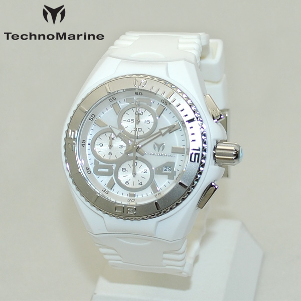 TechnoMarine テクノマリーン 腕時計 TM115259 CRUISE JELLYFISH シルバー/ホワイト ラバー ウォッチ テクノマリン 時計 【送料無料(※北海道・沖縄は1,000円)】