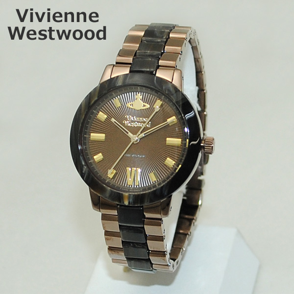 Vivienne Westwood (ヴィヴィアンウエストウッド) 腕時計 VV165BRBR 時計 ブラウン マーブル ブレス レディース ヴィヴィアン 【送料無料(※北海道・沖縄は1,000円)】