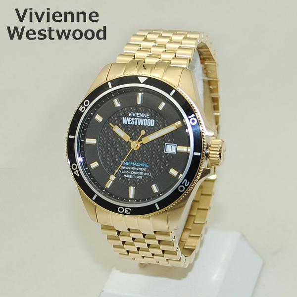 Vivienne Westwood (ヴィヴィアンウエストウッド) 腕時計 VV181BKGD ブラック/ゴールド ブレス 時計 メンズ ヴィヴィアン 【送料無料(※北海道・沖縄は1,000円)】