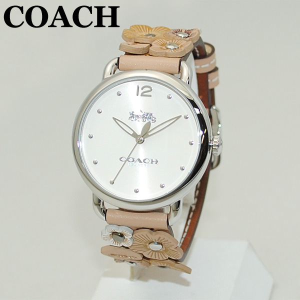 COACH (コーチ) 腕時計 14502874 シルバー/ベージュ レザー レディース 時計 ウォッチ 【送料無料(※北海道・沖縄は1,000円)】
