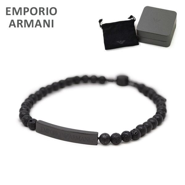 エンポリオ アルマーニ ブレスレット EGS2478001 ブラック EMPORIO ARMANI イーグルロゴ アクセサリー メンズ 【送料無料(※北海道・沖縄は1,000円)】
