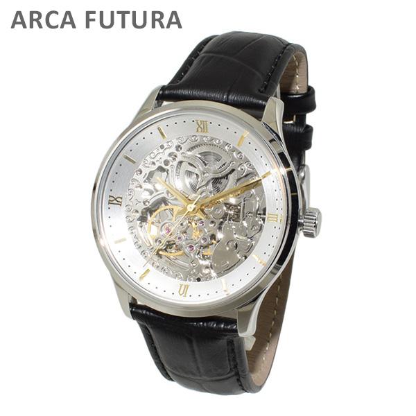 ARCA FUTURA (アルカフトゥーラ) 時計 腕時計 101101WHGDBK ブラック レザー/シルバー 自動巻き メンズ 【送料無料(※北海道・沖縄は1,000円)】