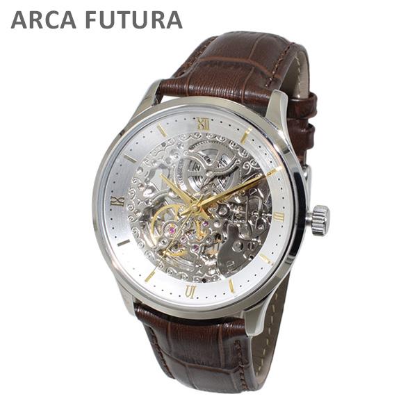 ARCA FUTURA (アルカフトゥーラ) 時計 腕時計 101101WHGDBR ブラウン レザー/シルバー 自動巻き メンズ 【送料無料(※北海道・沖縄は1,000円)】