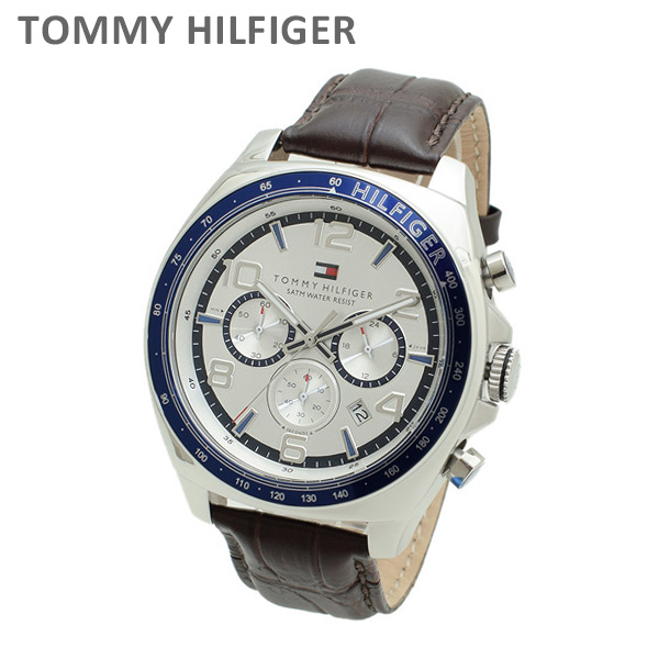 トミーヒルフィガー 腕時計 1790937 レザー ダークブラウン/シルバー メンズ TOMMY HILFIGER 【送料無料(※北海道・沖縄は1,000円)】