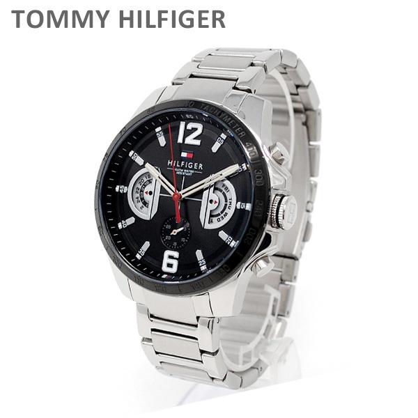 トミーヒルフィガー 腕時計 1791472 ブレス シルバー/ブラック メンズ TOMMY HILFIGER 【送料無料(※北海道・沖縄は1,000円)】