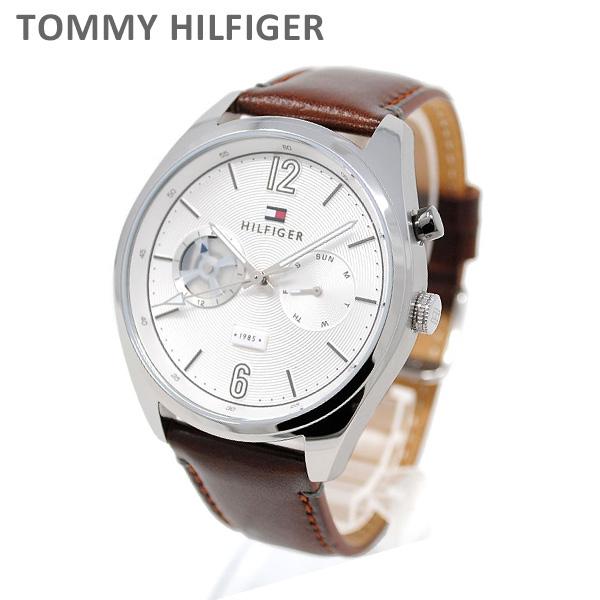 トミーヒルフィガー 腕時計 1791550 レザー ブラウン/シルバー メンズ TOMMY HILFIGER 【送料無料(※北海道・沖縄は1,000円)】