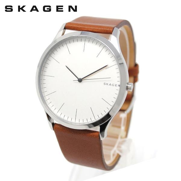 スカーゲン 腕時計 SKW6331 SKAGEN JORN 時計 メンズ ウォッチ ホワイト/シルバー/ブラウン レザー 【送料無料(※北海道・沖縄は1,000円)】