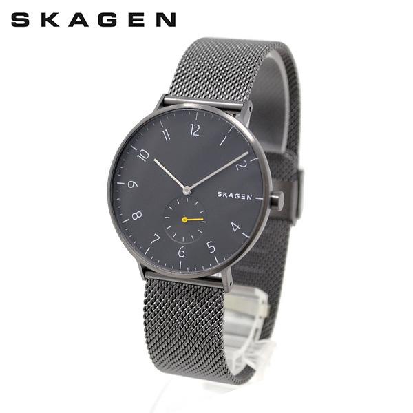 スカーゲン 腕時計 SKW6470 SKAGEN AAREN 時計 メンズ ウォッチ ブラック/ガンメタル ブレス 【送料無料(※北海道・沖縄は1,000円)】