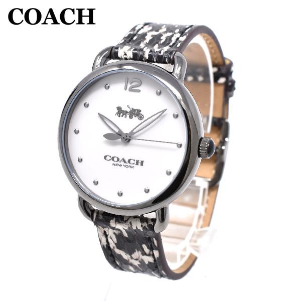 コーチ 腕時計 レディース 14502712 COACH DELANCEY デランシー ガンメタル/パイソン レザー 時計 ウォッチ 【送料無料(※北海道・沖縄は1,000円)】