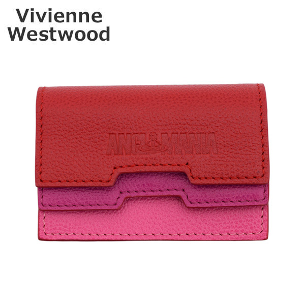 ヴィヴィアンウエストウッド カードケース 53030001-40219-MO SUSIE DOUBLE FLAP ピンク レディース Vivienne Westwood 【送料無料(※北海道・沖縄は1,000円)】