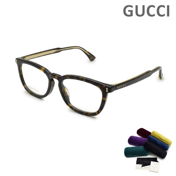 グッチ メガネ 眼鏡 フレーム のみ GG0126OA-002 ハバナ アジアンフィット メンズ GUCCI 【送料無料(※北海道・沖縄は1,000円)】