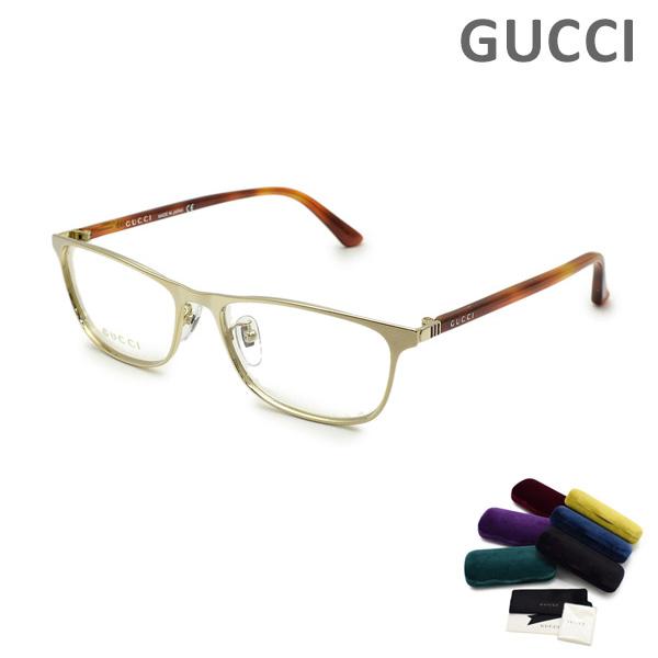 グッチ メガネ 眼鏡 フレーム のみ GG0133OJ-004 ゴールド/ハバナ メンズ レディース ユニセックス GUCCI 【送料無料(※北海道・沖縄は1,000円)】