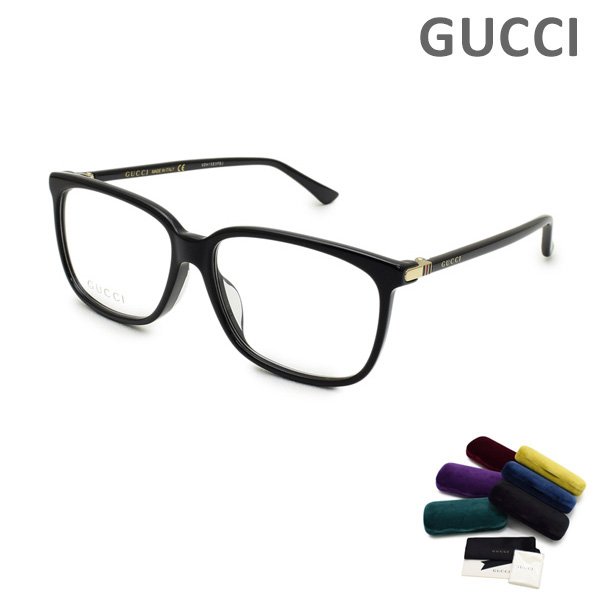 グッチ メガネ 眼鏡 フレーム のみ GG0295OA-001 ブラック アジアンフィット メンズ GUCCI 【送料無料(※北海道・沖縄は1,000円)】
