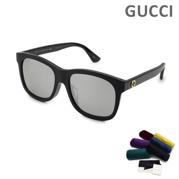 グッチ サングラス グラサン 眼鏡 めがね メガネ グッチ サングラス GG0326SA-001 アジアンフィット レディース UVカット GUCCI 【送料無料(※北海道・沖縄は1,000円)】