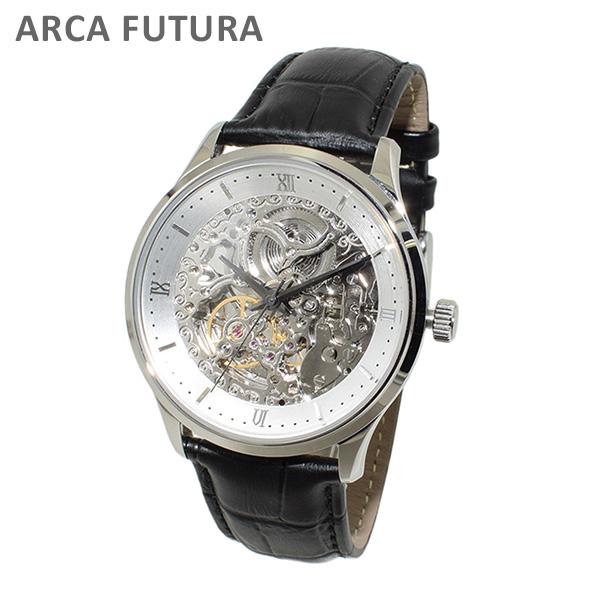 ARCA FUTURA (アルカフトゥーラ) 時計 腕時計 101101WHSSBK ブラック レザー/シルバー 自動巻き メンズ 【送料無料(※北海道・沖縄は1,000円)】