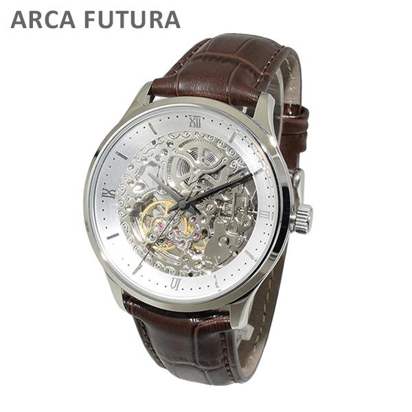 ARCA FUTURA (アルカフトゥーラ) 時計 腕時計 101101WHSSBR ブラウン レザー/シルバー 自動巻き メンズ 【送料無料(※北海道・沖縄は1,000円)】