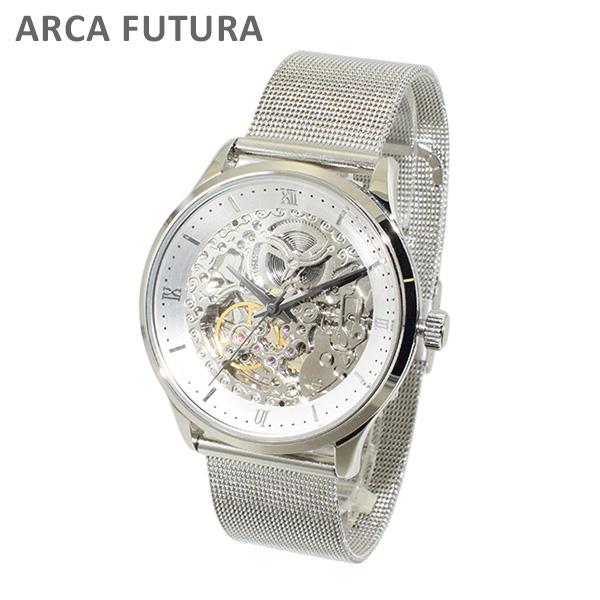 ARCA FUTURA (アルカフトゥーラ) 時計 腕時計 101101WHSS-M シルバー ブレス 自動巻き メンズ 【送料無料(※北海道・沖縄は1,000円)】