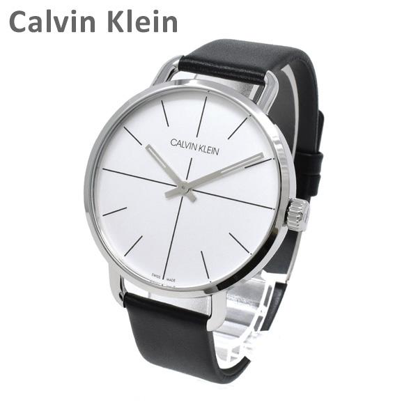 Calvin Klein CK カルバンクライン 時計 腕時計 K7B211CY EVEN EXTENSION イーブンエクステンション シルバー/ブラック レザー メンズ ウォッチ クォーツ 【送料無料(※北海道・沖縄は1,000円)】
