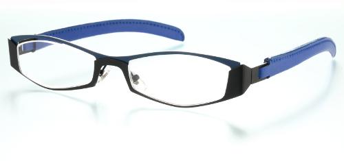 ブラック&ブルーシニアグラス(老眼鏡)[全額返金保証]