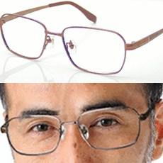 チタンギャレット(ブラウン)・ニコン遠近両用メガネ・[全額返金保証]日本製遠近両用メガネ