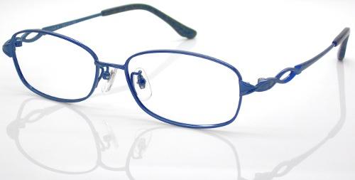 日本製 Nikon レンズ使用 チタンブルー ニコン 遠近両用メガネ[全額返金保証]乱視 矯正 対応 乱視 遠近両用 メガネ 老眼鏡 おしゃれ 女性用 レディース 中近両用 眼鏡 シニアグラス リーディンググラス