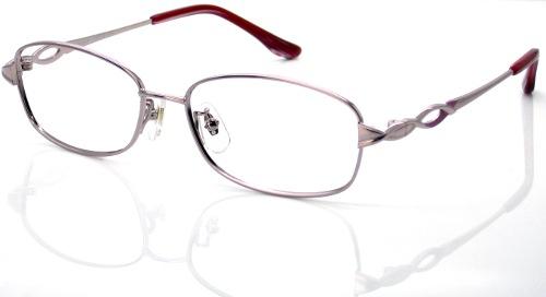 日本製 Nikon レンズ使用 チタンピンク ニコン 遠近両用メガネ[全額返金保証]乱視 矯正 対応 乱視 遠近両用 メガネ 老眼鏡 おしゃれ 女性用 レディース 中近両用 眼鏡 シニアグラス リーディンググラス