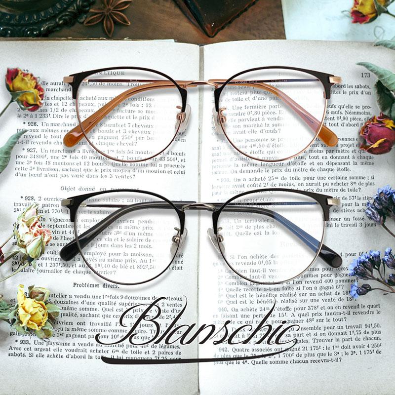 (RSN)ブルーライトカット 中近両用 メガネ ブランシック クラシック(cl-3065)[全額返金保証]ブルーライト 老眼鏡 カット メガネ 眼鏡 男性 女性 用 パソコン メガネ シニアグラス メンズ レディース おしゃれ リーディンググラス PC