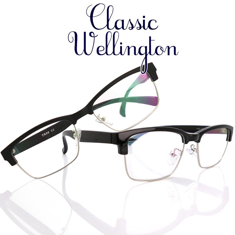 日本製 Nikon レンズ使用 TRクラシック ウェリントン(6080) ニコン 遠近両用メガネ[全額返金保証]乱視 矯正 対応 乱視 遠近両用 メガネ 老眼鏡 おしゃれ 男性用 メンズ 中近両用 眼鏡 シニアグラス リーディンググラス