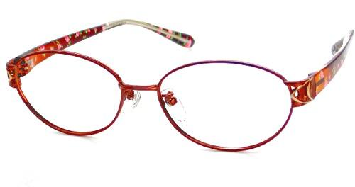 日本製 Nikon レンズ使用 TRセピアフラワー ニコン 遠近両用メガネ[全額返金保証]乱視 矯正 対応 乱視 遠近両用 メガネ 老眼鏡 おしゃれ 女性用 レディース 中近両用 眼鏡 シニアグラス リーディンググラス