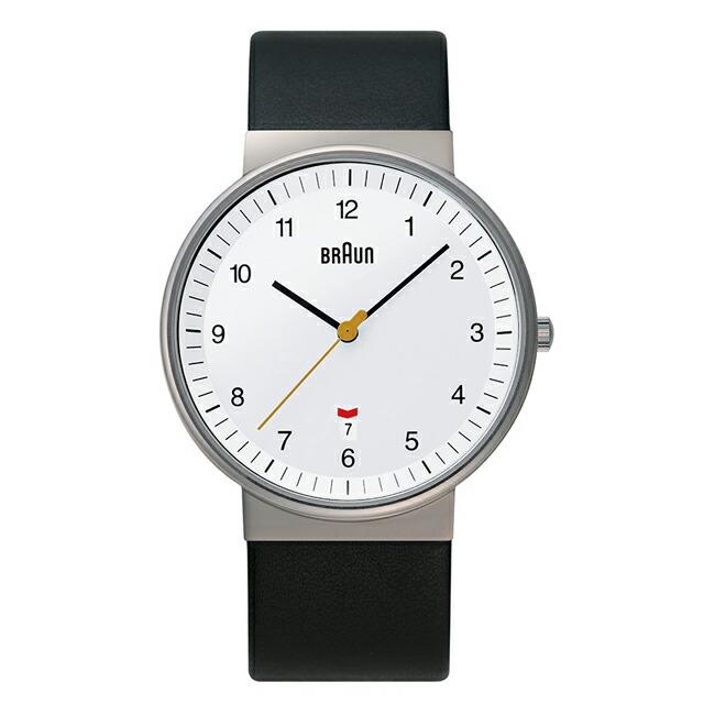 【並行輸入品】BRAUN LEATHER ANALOG WATCH ブラウン レザー アナログ ウォッチ BN0032WHBKG 腕時計 メンズ ブラック 黒 ホワイト 白 レザー 革ベルト BNH0032