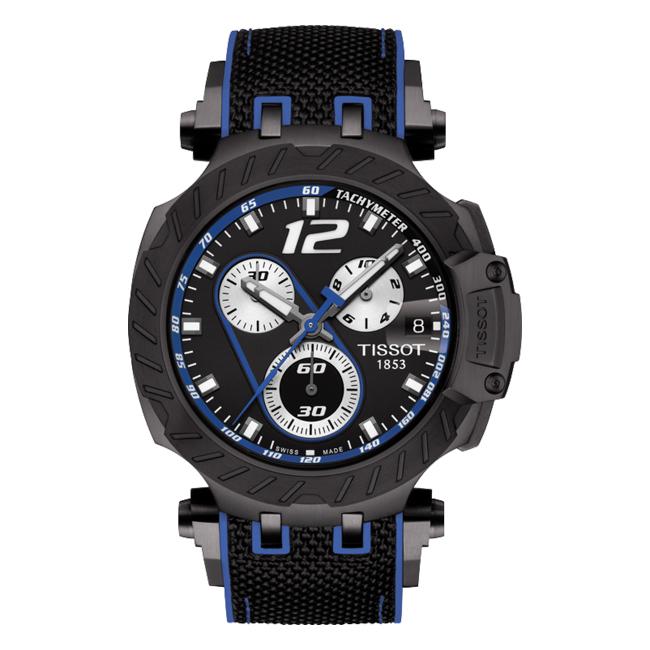 【送料無料】TISSOT ティソ T-レース トーマス・ルティ 2019 リミテッド・エディション T115.417.37.057.03 腕時計 メンズ クロノグラフ アナログ ブラック 黒 ブルー 青 海外モデル
