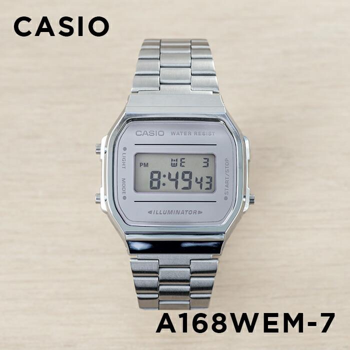 【並行輸入品】【10年保証】CASIO STANDARD DIGITAL カシオ スタンダード デジタル A168WEM-7 腕時計 メンズ レディース キッズ 子供 男の子 女の子 チープカシオ チプカシ プチプラ シルバー