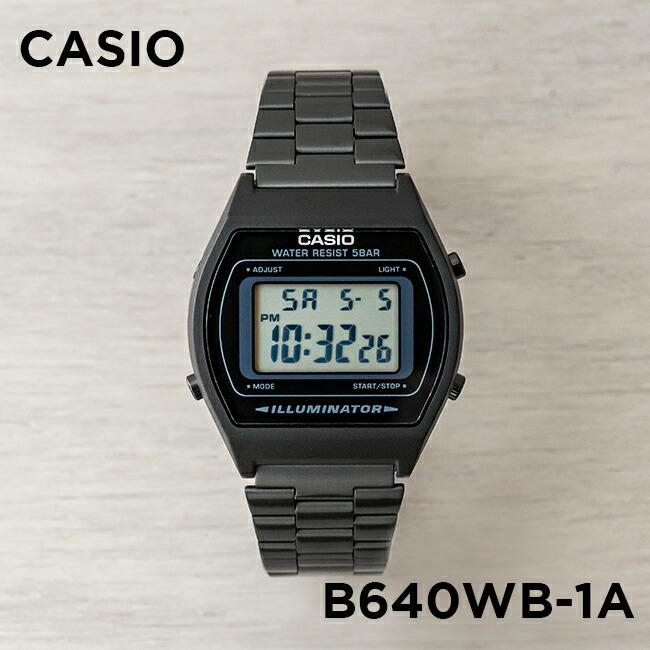 【並行輸入品】【10年保証】CASIO STANDARD DIGITAL カシオ スタンダード デジタル B640WB-1A 腕時計 メンズ レディース キッズ 子供 男の子 女の子 チープカシオ チプカシ プチプラ ブラック 黒