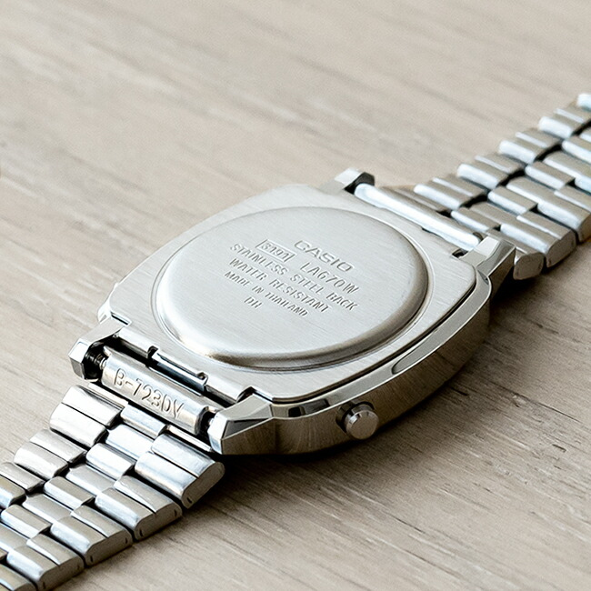 【並行輸入品】【10年保証】CASIO STANDARD DIGITAL LADYS カシオ スタンダード デジタル レディース LA670WA-7 腕時計 キッズ 子供 女の子 チープカシオ チプカシ プチプラ シルバー