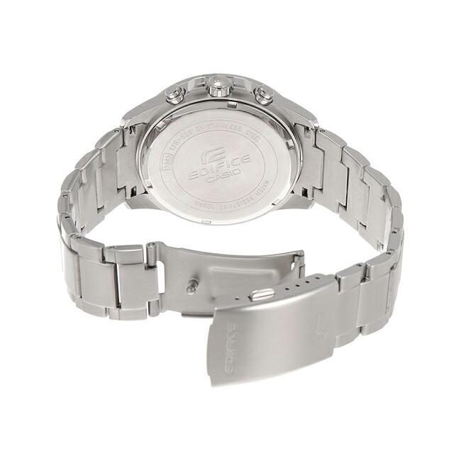 【並行輸入品】CASIO EDIFICE CHRONOGRAPH カシオ エディフィス クロノグラフ EFR-526D-1A 腕時計 メンズ アナログ 防水 シルバー ブラック 黒