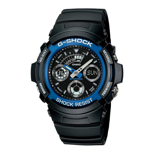【並行輸入品】CASIO G-SHOCK カシオ Gショック AW-591-2A 腕時計 メンズ ジーショック アナデジ 防水 ブラック 黒 ブルー 青