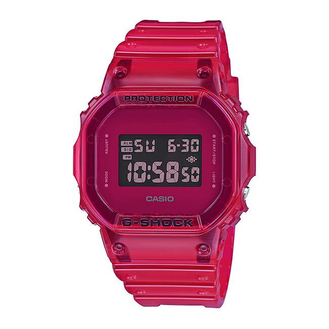 国内正規品 CASIO G SHOCK カシオ Gショック DW 5600SB 4JF 腕時計 メンズ キッズ 子供 男の子 デジタル 防水 レッド 赤 スケルトン 送料無料cAq3R4L5j
