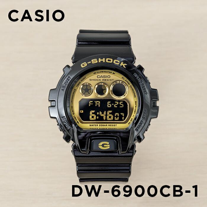 【並行輸入品】CASIO G-SHOCK CRAZY COLORS カシオ Gショック クレイジーカラーズ DW-6900CB-1 腕時計 メンズ ジーショック デジタル 防水 ブラック 黒 ゴールド 金