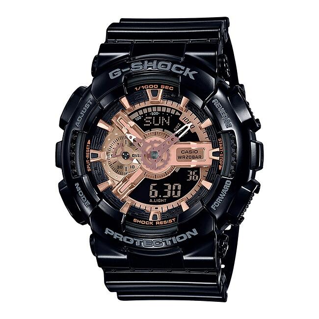 【国内正規品】CASIO G-SHOCK BLACK & ROSE GOLD SERIES カシオ Gショック ブラック&ローズゴールド シリーズ GA-110MMC-1AJF 腕時計 メンズ キッズ 子供 男の子 ジーショック アナデジ 防水 ブラック 黒 ローズゴールド