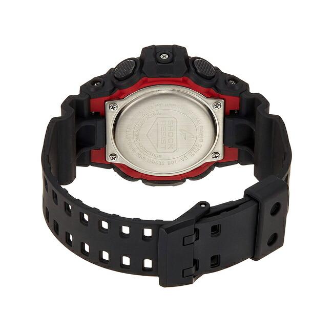【並行輸入品】CASIO G-SHOCK カシオ Gショック GA-700-1A 腕時計 メンズ ジーショック アナデジ 防水 ブラック 黒 レッド 赤