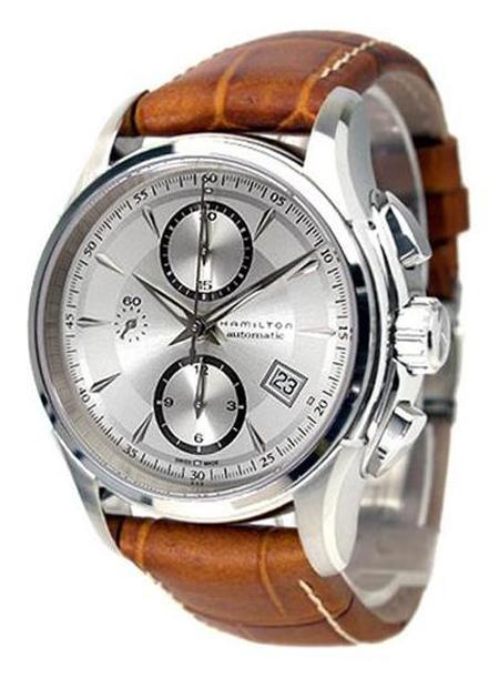 【送料無料】HAMILTON ハミルトン ジャズマスター オート クロノ H32616553 腕時計 メンズ アナログ シルバー ブラウン 茶 レザー 革ベルト