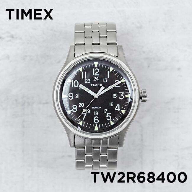 【並行輸入品】TIMEX MK1 STEEL 40MM タイメックス エムケーワン スチール 40MM TW2R68400 腕時計 メンズ レディース アナログ ブラック 黒 シルバー