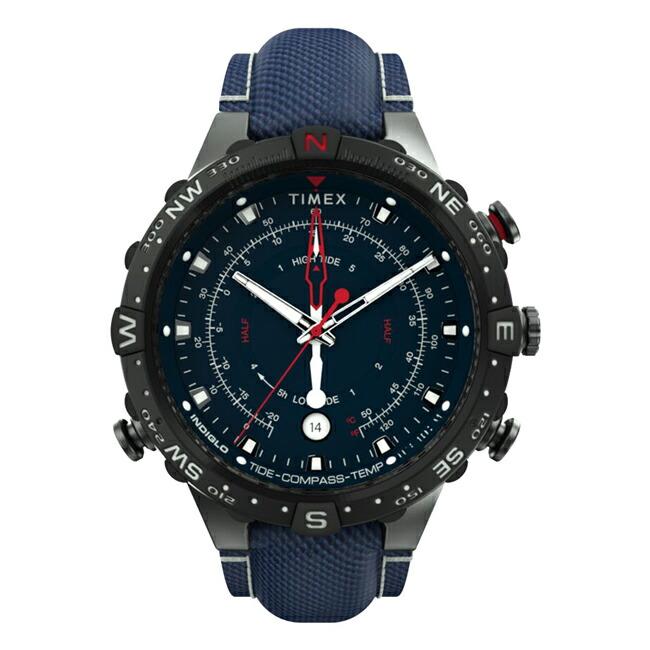 【並行輸入品】【日本未発売】TIMEX タイメックス アライド タイドテンプコンパス インテリジェント クオーツ 45MM TW2T76300 腕時計 メンズ アナログ ネイビー ブラック 黒 海外モデル 送料無料