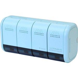 期間限定 MEDIK 歯ブラシ 除菌 ケース 充電式 4本収納 除菌ホルダー 壁掛け ミント 紫外線 歯ブラシ除菌キャップ 除菌器 UV-C MDK-TS04 輸入 LED コードレス