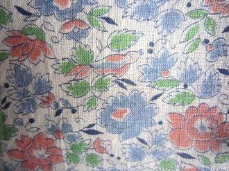 feedsack パッチワーク 商品 キルト ハンドメイド 小物作りに 白地ピンクブルー小鳥とお花 4サイズ 1 当店限定販売 フィードサック