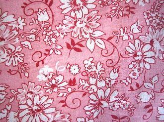 feedsack パッチワーク 国際ブランド キルト 現品 ハンドメイド 小物作りに フィードサック 16サイズ ピンク地白いお花 1