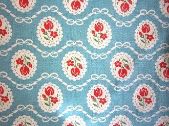 割引も実施中 feedsack パッチワーク キルト ハンドメイド 小物作りに ブルー地ドイリー小花 1 フィードサック 16サイズ 本物◆