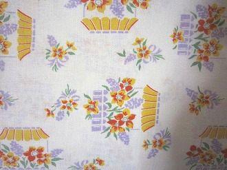 feedsack 物品 パッチワーク 捧呈 キルト ハンドメイド 小物作りに フィードサック 1 4サイズ 白地窓辺のお花