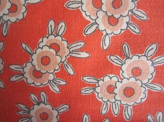 feedsack 高級な パッチワーク キルト ハンドメイド 小物作りに 綿 16サイズ フィードサック セール商品 1 赤地お花 コットン はぎれ
