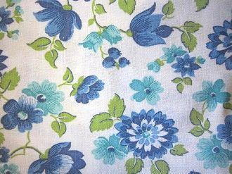 feedsack パッチワーク キルト ハンドメイド 小物作りに 1 フィードサック 希少 大放出セール 白地ブルーお花 16サイズ
